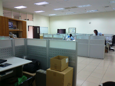 The admin and sales office area.