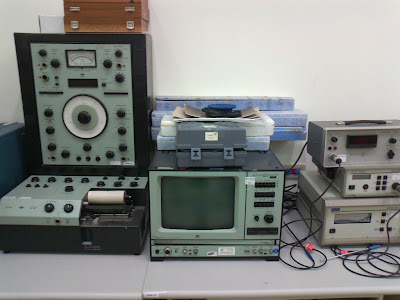 More test equipment, scopes and test tone generators.
