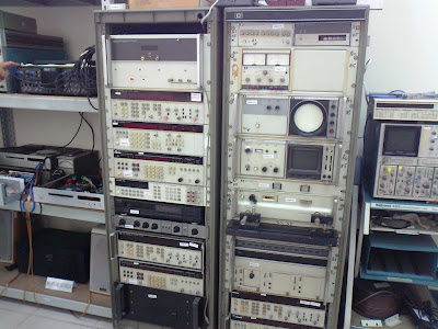 Stacks and stacks of test equipment!