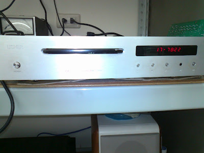 The front panel of the above CD player.