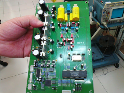 This is a new DAC and output stage PCB board section of Usher's soon to be released new CD player, now under final stages of R&D.