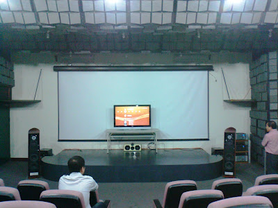 This auditorium also caters for AV and home theater products testing.