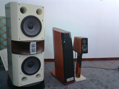 From left: Usher D3 Reference Horn, CP-8871 and BE-718
